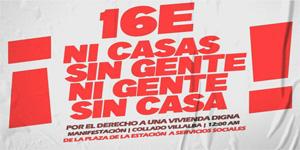 Manifestación en Villalba por el derecho a una vivienda digna