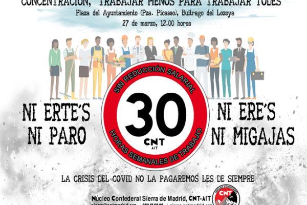 Presiones del Ayto. de Buitrago para que desconvoquemos concentración del 27 de marzo