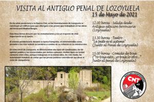 Visita al antiguo penal de Lozoyuela. 15 de mayo, 12.00 horas.