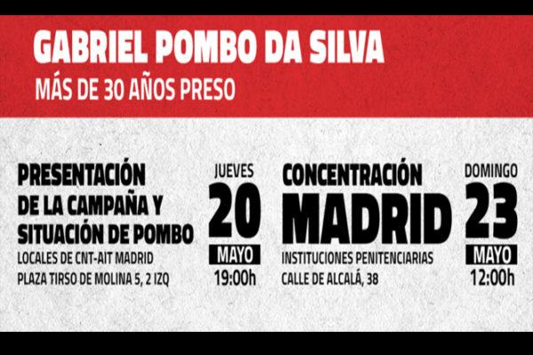 Arranca la campaña por la libertad de Gabriel Pombo da Silva